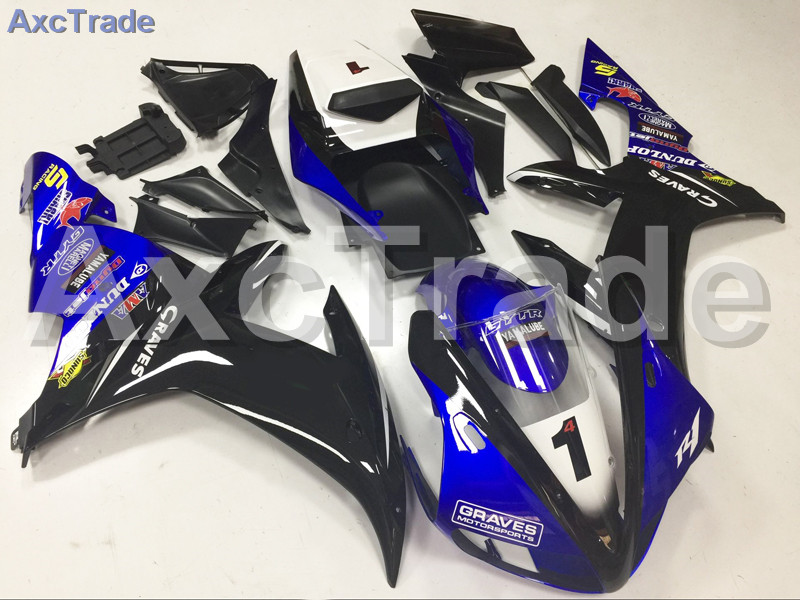 Motorcycle Fairings Kits For Yamaha YZF1000 YZF 1000 R1 YZF-R1 2002 2003 02 03 ABS Injection Fairing Bodywork Kit Blue Black A23 red black moto fairing kit for yamaha yzf600 yzf 600 r6 yzf r6 1998 2002 98 02 fairings custom made motorcycle bodywork c821