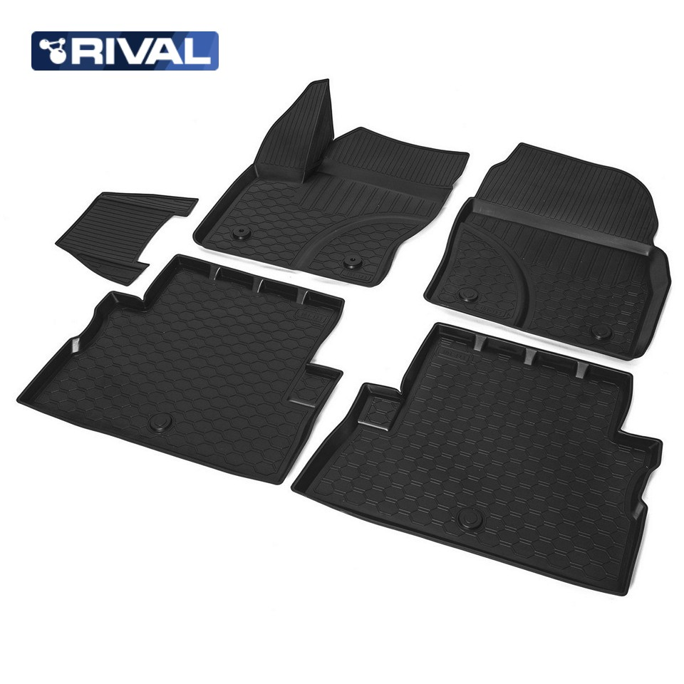 For Ford Kuga 2013-2019 floor mats into saloon 5 pcs/set Rival 11804001 for ford 2013 2014 year kuga escape led strip drl daytime running light