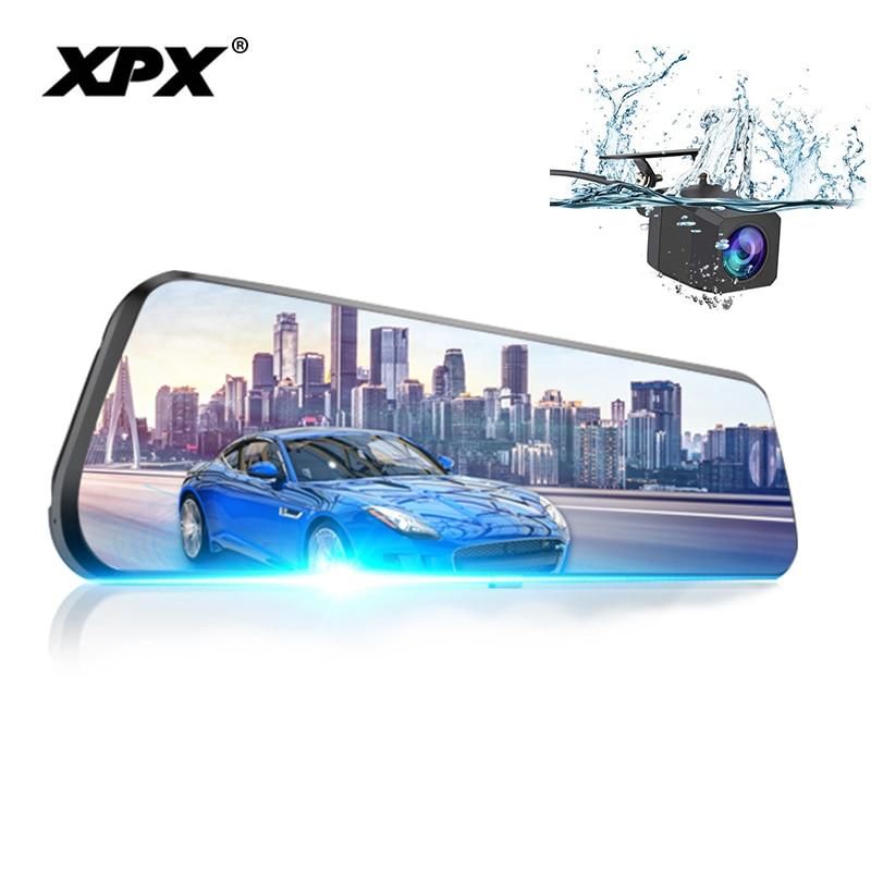 XPX ZX968 Car DVR Dash cam DVR mirror Rearview camera 9.8 inch 2.5D IPS screen 1080P Night vision Dashcam Car camera