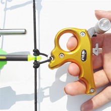 Discount! 1pc Archery Compound Bow 3 Finger Release Stainless Steel Thumb Grip Caliper Release Aids Fit Left And Right Hand Shooting