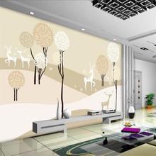Абстрактные деревья ТВ фон настенная живопись профессиональные