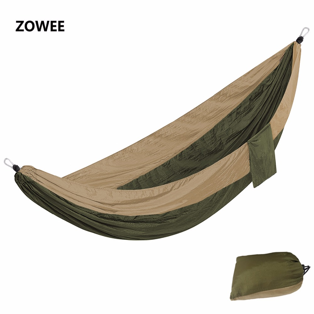 12 Color 2 People Portable Parachute Hammock Camping Survival Garden Flyknit Hunting Leisure Hamac Travel Double Person Hamak 2017 2 people hammock camping survival garden hunting travel double person portable parachute outdoor furniture sleeping bag
