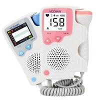 Digital & Graph Fetal Heart Meter Fetal Doppler LCD Ultrasonic fetal doppler FHR digital voice Fetal heart detector