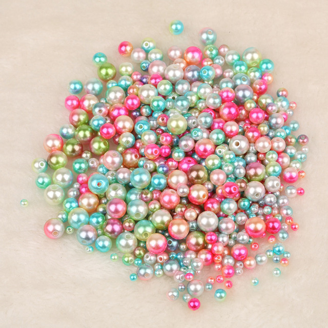 50-500pcs 4 6 8 10 12mm ABS Imitation Pearl Beads Round Loose Beads Handmade DIY Necklace Bracelet Jewelry Making Accessories