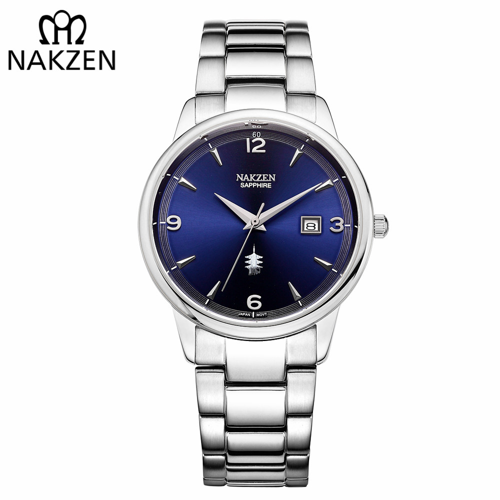 NAKZEN Male Casual Commerce Cool Watch Simple Wrist Watch Brand Luxury Men Quartz Watches Stainless Steel Waterproof Clock Gift ...