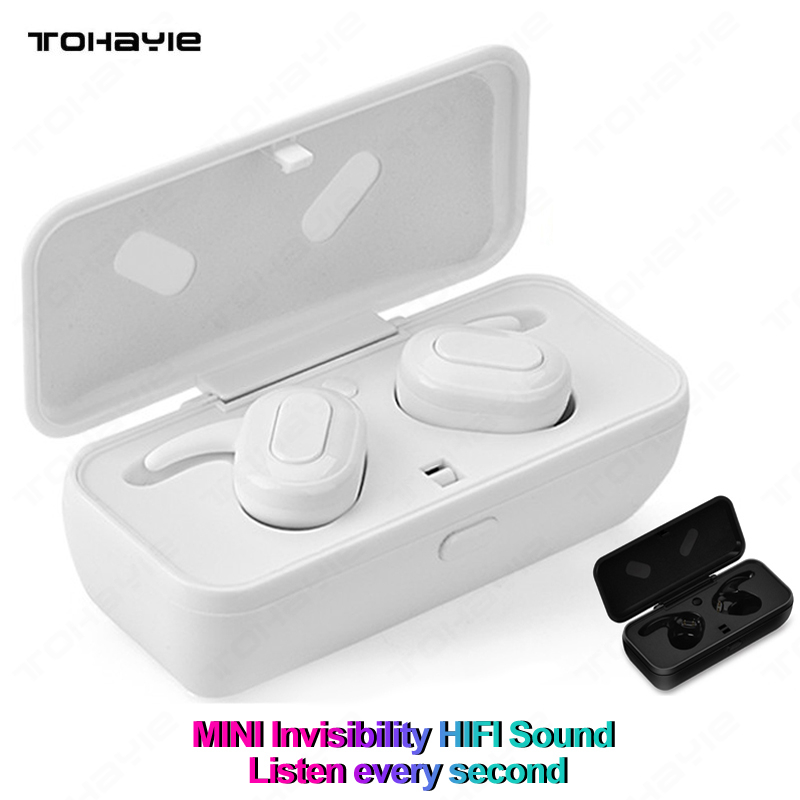 Tws Mini Bluetooth Earphones With Mic Wireless 3d Stereo Headphones Headset Handsfree Calls Noise Cancelling Earbuds Yc1726
