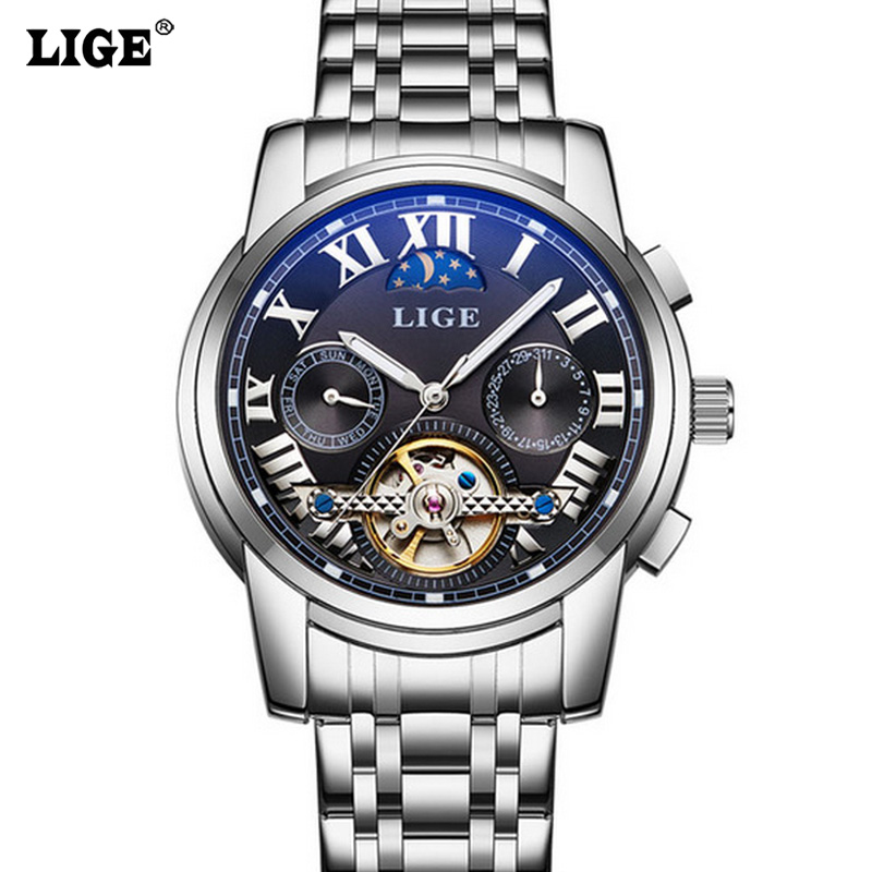 Fashion Sport Watches Men LIGE Tourbillon Automatic Mechanical Watch Top Brand Luxury Mens Wristwatch relogio masculino mens watches top brand luxury lige 2017 men watch sport tourbillon automatic mechanical leather wristwatch relogio masculino