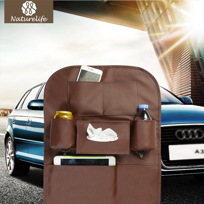 Naturelife organizador de almacenamiento basura neto soporte Multi-Bolsillo de almacenamiento de viaje bolsa de asiento de suspensión de capacidad de almacenamiento de la bolsa