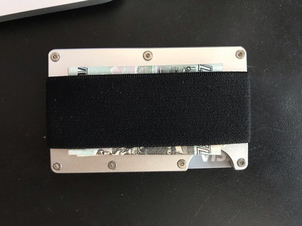New Man Pocket Wallet Aluminum Bank Credit Card Holder Portable Rfid Blocking Porte Badge Travel Organization Holder photo review