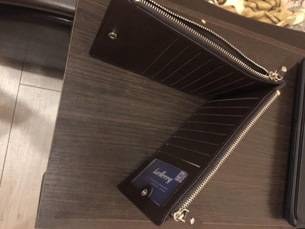 Osmond Top lederen kaarthouders Mens Multi grote capaciteit kaarten portemonnee rits Hasp portemonnee Mens ID Credit portefeuilles geld zakje photo review