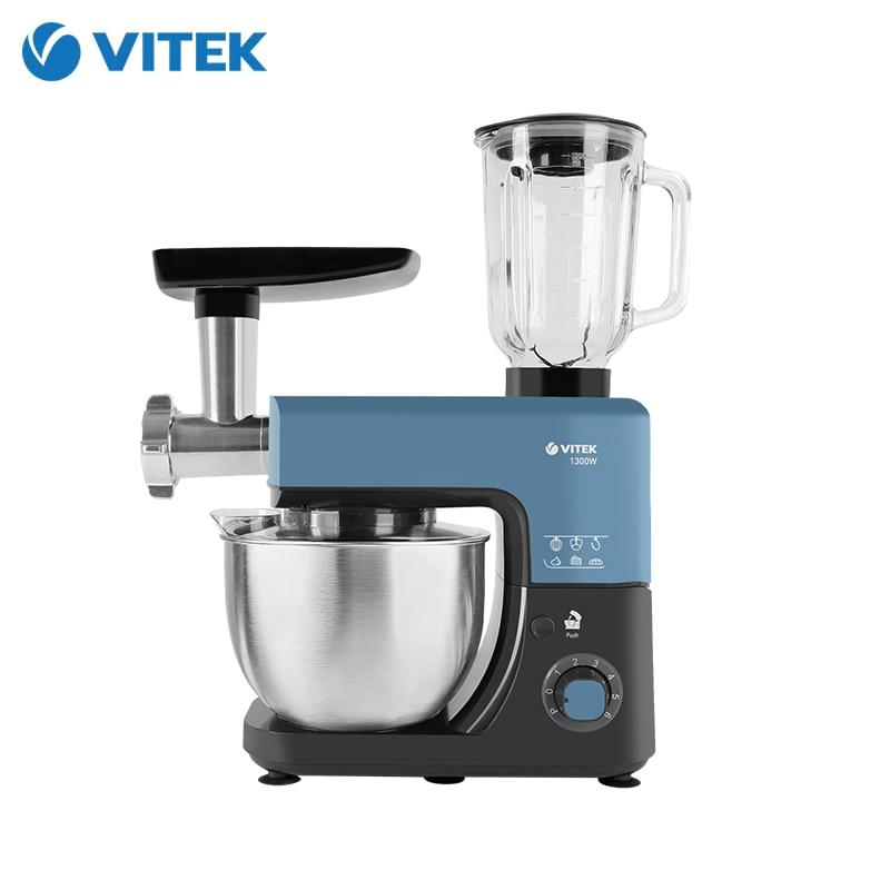Kitchen Machine VITEK VT-1439 Food Processor Mixer With Bowl Stand Meat Grinder Blender Dough