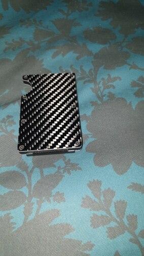 Valink 2019 Nieuwe Mode Slanke Koolstofvezel Creditcardhouder RFID Non-scan Metalen Portemonnee Portemonnee Mannelijke Carteira Masculina Billetera photo review