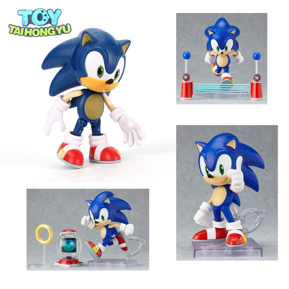 TAIHONGYU 9cm New in Box Super Sonic The HEDGEHOG PVC Action Figure Toy Model Gift new in box toy story spaceship command center playset nice gift