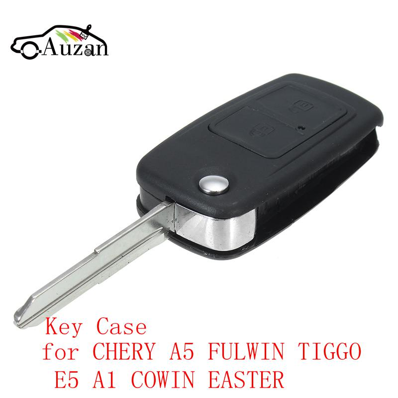 2 Buttons Car Key Case Uncut Cooper Blade Modified Remote Key Shell for CHERY A5 FULWIN TIGGO E5 A1 COWIN EASTER replacement folding key case shell for vw golf 7 no chip for volkswagen remote keyless shell auto parts key case with blade