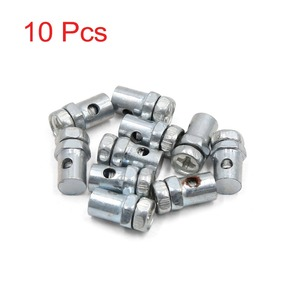 uxcell Universal Fit for Cable Diameter 2.5mm 10Pcs 14 x 8mm Brake Line Cable Wire Fixed Screws Fastener for Motorcycle