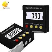 Transferidor digital pequeno, transferidor digital pequeno 360 graus clinômetro eletrônico caixa à base de magnésio ferramentas de aferição