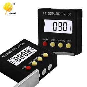 360 Degree Mini Digital Protractor Inclinometer Electronic Level Box Magnetic Base Measuring Tools(China)