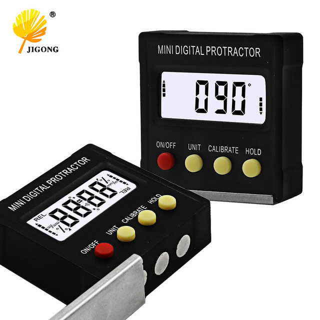 Special Offers 360 Degree Mini Digital Protractor Inclinometer Electronic Level Box Magnetic Base Measuring Tools