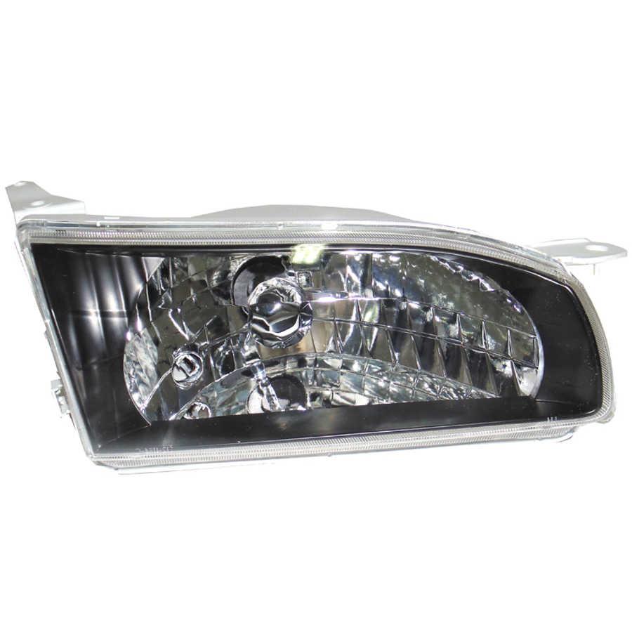 hight resolution of headlight right fits toyota corolla e11 1995 1996 1997 headlamp right black crystal