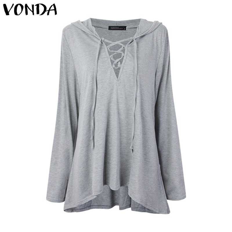 VONDA 2018 Women Pregnant Blouses Shirts Casual Loose Sexy V Neck Solid Shirts Plus Size Maternity Clothings Pregnancy Pullovers недорго, оригинальная цена