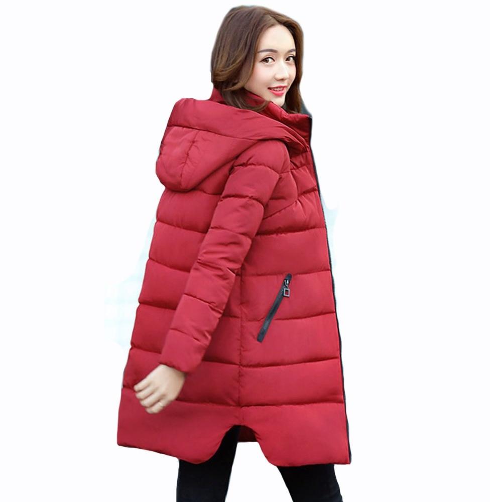 Fashion Winter coat Women winter jacket High quality Large size Hooded warm cotton jacket Elegant Female