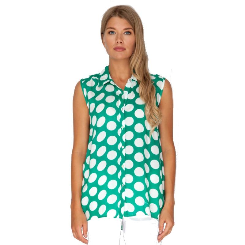 Blouses and Shirts VISAVIS L3490 Viscose summer women TmallFS plus collar knot blouses
