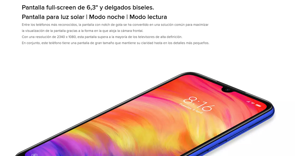 "[Global Version] Xiaomi Note Redmi 7 smartphone Screen HD + 6,26 "", RAM 4 hard GB + ROM 64 hard GB, Battery 4000 mAh."