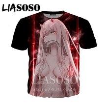 LIASOSO DARLING in the FRANXX Zero Two homme t shirt men anime funny t shirts Wo