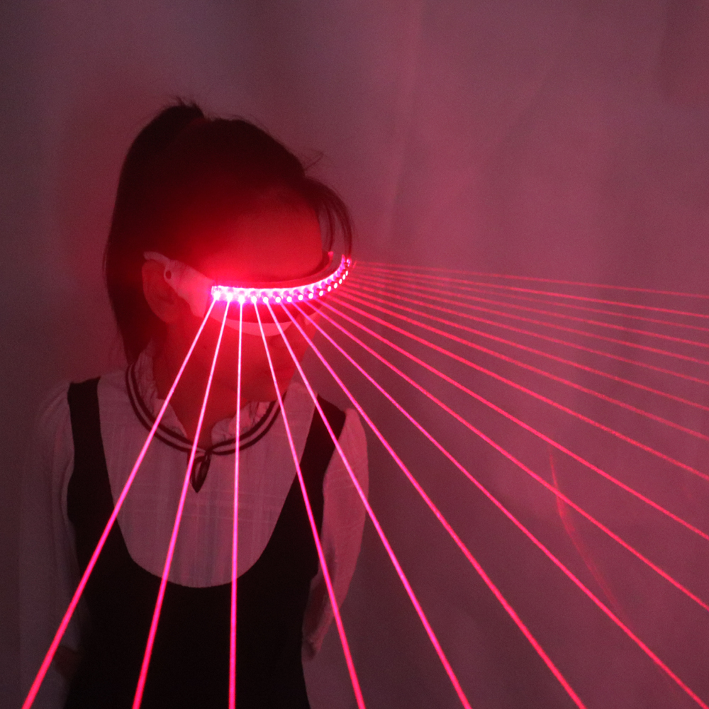 650nm Red Laser Glasses / Luminescent Glasses / 18pcs Laser Influx Of People Necessary Stage Flashing Glasses