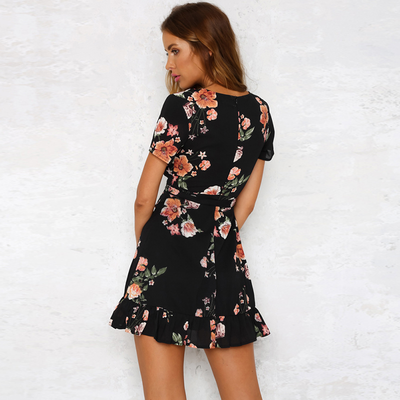 L-rio-Rosie-Menina-Preto-Elegante-Boho-Floral-Impress-o-Mulheres-Mini-vestido-V-Profundo-Neck (2)