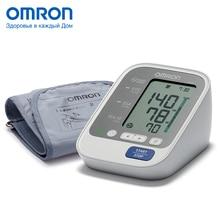 Тонометр OMRON M3 Eco (HEM-7131-ARU) с адаптером, Измеритель артериального давления и частоты пульса автоматический, Индикатор аритмии, Индикатор правильной фиксации манжеты, Мини-адаптер в комплекте