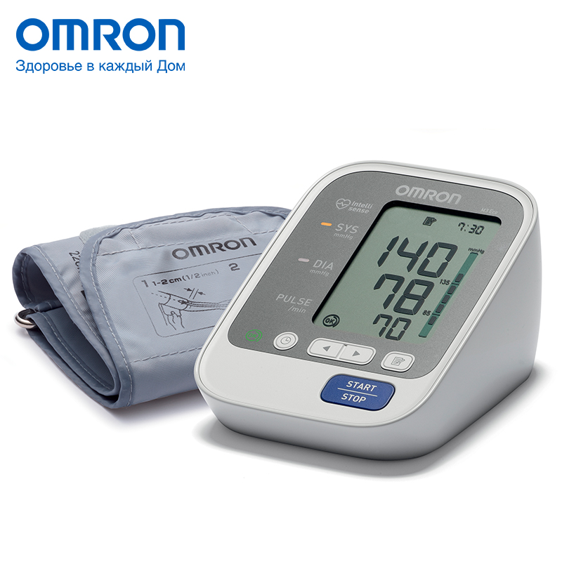 Omron M3 Eco (HEM-7131-ARU) Blood pressure monitor Home Health care Monitor Heart beat meter machine Tonometer Automatic Digital omron m6 hem 7213 aru blood pressure monitor home health care monitor heart beat meter machine tonometer automatic digital