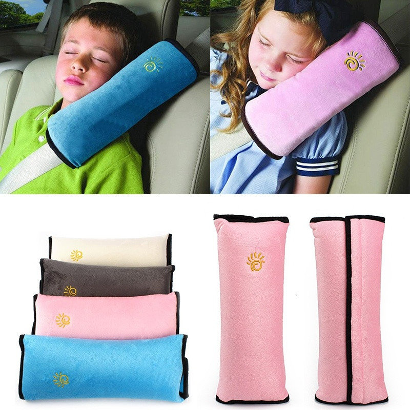 Seatbelt Cushion Harness Head-Pad-Cover Headrest Neck-Pillow Baby Children Soft Car ISOWTIENDA