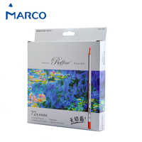 Marco 48/72Colors Colored Pencil Painting Set lapis de cor Non toxic Lead free Oily Color Pencil Writing Pen School Supplies