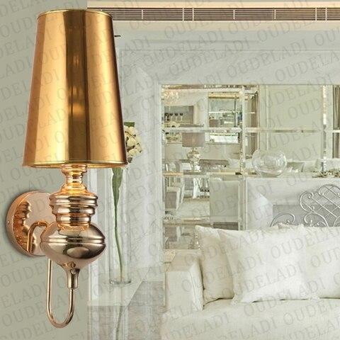 lampadas de parede modernas glod prata preto
