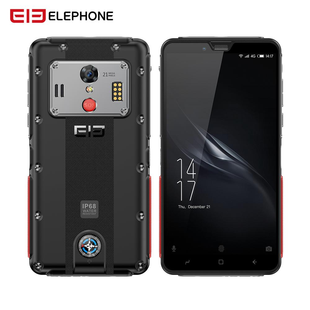 Elephone Soldado 4GB 128GB Smartphone 5.5 ''tela 2K IP68 telefone à prova d' água Android 8.0 Helio X25 Deca núcleo 5000mAh telefone Robusto