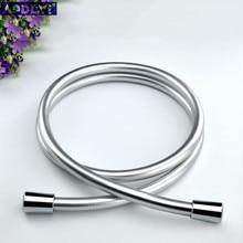 PVC de alta presión de plata y negro liso de PVC manguera de la ducha para baño cabeza de ducha de mano Flexible manguera de la ducha envío gratis 11-088