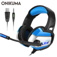 ONIKUMA K5 Best Stereo Gaming Headset casque 3.5mm Deep Bass Headphones with Mic for PS4 Gamepad New Xbox One PC Laptop Computer