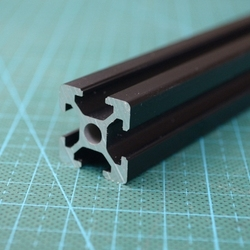 415mm 2020 Schwarz Al profile für HyperCube Evolution 3D Gedruckt Teile Schwarz farbe, 2 teile/los