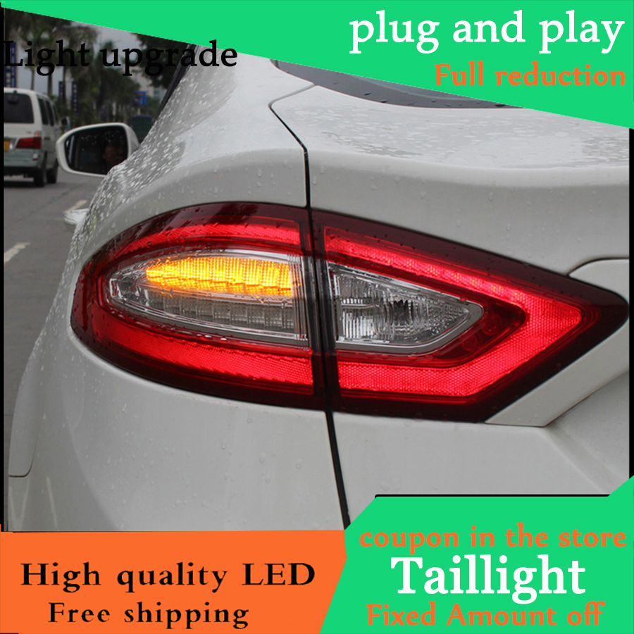 Car Styling Tail Light Case For Ford Mondeo Fusion Taillights 2013 2016 LED Tail Lamp Rear