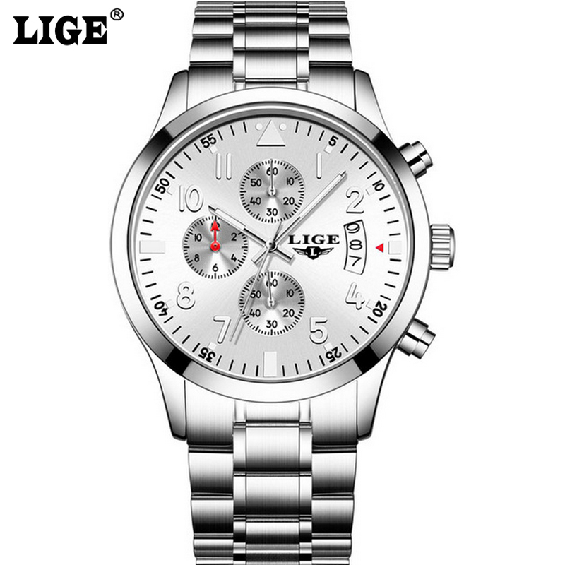 Sport Watch New Mens Watches Top Brand Luxury Business Quartz Watch Men Stainless Steel Casual Waterproof  Relogio Masculino new relogio masculino gold top luxury brand business casual quartz watch men stainless steel military watches reloj hombre hot