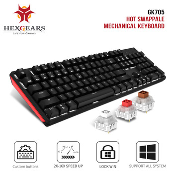 HEXGEARS GK705 Kailh BOX Switch 104 Keys Gaming Mechanical Keyboard Hot Swap Switch Anti-Ghosting LOL Keyboard 1