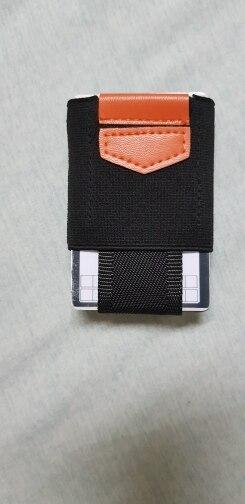 Minimalist Wallet Credit Card Holder Mini Small Business ID Card Holder Organizer Badge Porte Carte Slim Wallet photo review