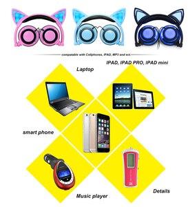 Image 5 - YiJee kedi kulak LED kulaklık LED yanıp sönen parlayan ışık kulaklık kulaklık oyun kulaklık PC bilgisayar ve cep telefonu