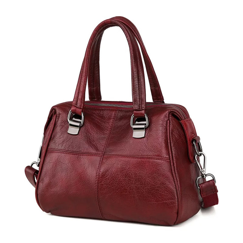 Fashion Real Leather Tote Bag Women Cow Leather Ladies Handbags Women Genuine Leather Handbags High Quality Bags Luxury Brand цены