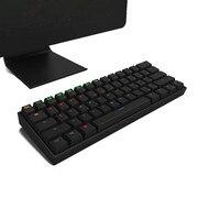 ミニワイヤレスメカニカルキーボードゲーミングキーボードledバックライト付きキーキャップブルー/レッド/ブラウンスイッチキーボード用pcコンピュータゲームラップトッ