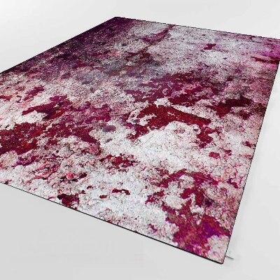 Else Purple Gray Vintage Aging Old Wall Design 3d Print Non Slip Microfiber Living Room Decorative Modern Washable Area Rug Mat