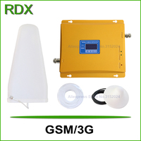 High gain 65dB lcd display dual band 900 2100 signal repeater cell phone gsm 3g w cdma 2100mhz UMTS signal booster amplifier