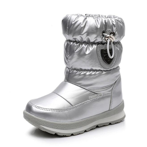 Image 4 - Children Boots For Girls Boys fashion snow boots waterproof sport boot keep warm Children shoes Non slip Leisure Flat boot mm191