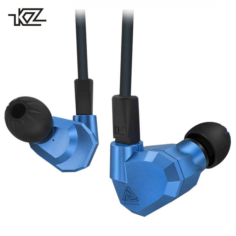 Original Brand KZ ZS5 In Ear Earphone 2DD+2BA Hybrid MMCX DJ Sport Earbuds Earphones with Microphone Headset For Phone kz headset storage box suitable for original headphones as gift to the customer